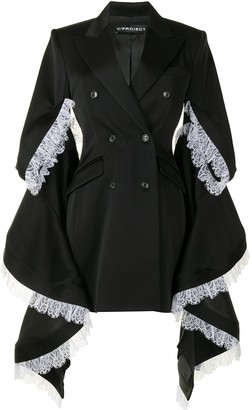 Y/Project Oversized-Sleeve Double Breasted Coat