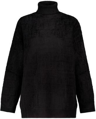 Fendi FF stretch-velvet turtleneck sweater