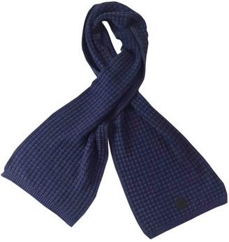 Moncler Blue Wool Scarves & pocket squares