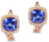 Effy Jewelry Effy Gemma 14K Rose Gold Tanzanite and Diamond Earrings, 2.19 TCW