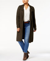 Style&Co. Style & Co Plus Size Cable-Knit Open-Front Duster Cardigan, Created for Macy's