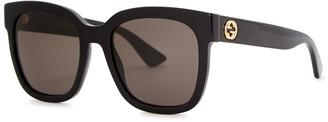 Gucci Black Oversized Sunglasses