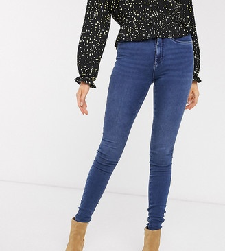 Only Tall high waist skinny jean in blue