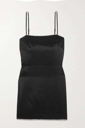 Mason by Michelle Mason Crystal-embellished Silk-crepe Mini Dress - Black