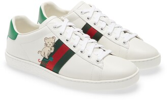 Gucci New Ace Embroidered Tennis Sneaker