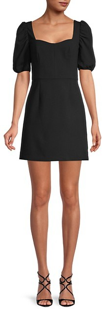 French Connection Berina Puff-Sleeve Dress