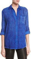 Alice + Olivia Piper Button-Down Shirt, Blue