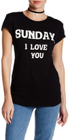 Wildfox Couture Sunday I Love You Tee