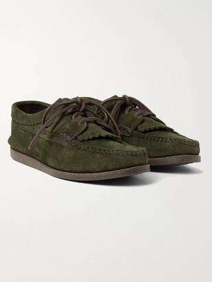 Yuketen Textured-Leather Kiltie Derby Shoes