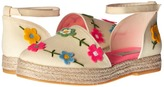 Stella McCartney Flora Canvas Espadrilles with Floral Appliques Girl's Shoes