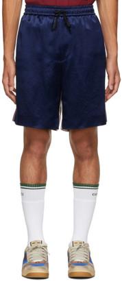 Gucci Blue and White Satin GG Star Shorts