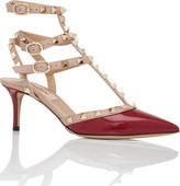 Valentino Nw1s0375 Vnw Patent Ankle Strap 65 Rockstud