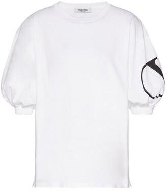 Valentino VLOGO Puff Sleeve T-Shirt