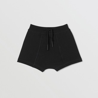 Burberry Childrens Logo Tape Cotton Drawcord Shorts