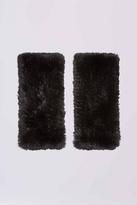 Diane von Furstenberg Rabbit Fur Fingerless Gloves