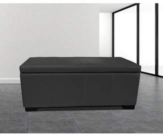 Latitude Run Haslett Upholstered Storage Ottoman Latitude Run Color: Black