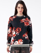 MSGM Black/Red Maglia Sweater