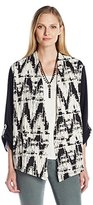 Alfred Dunner Madison Park Women's Top with Center Embroidery