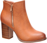 Nature Breeze Women's Casual boots DARK - Dark Tan Cache Bootie - Women