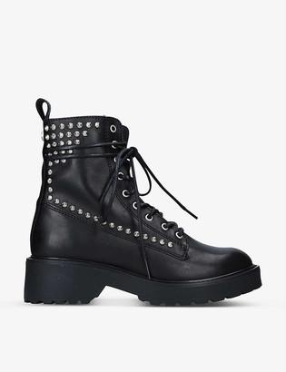 Steve Madden Tornado stud-embellished leather combat boots