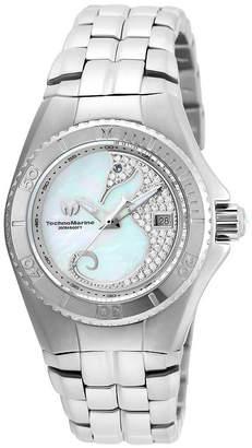 Technomarine TECHNO MARINE Techno Marine Womens Silver Tone Stainless Steel Bracelet Watch-Tm-115286