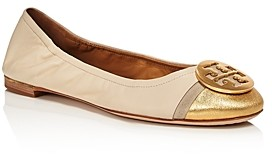 Tory Burch Women's Minnie Cap Toe Ballet Flats