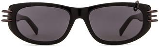 Givenchy Pierced Sunglasses in Black | FWRD