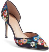 Tory Burch Women's Rosemont Embroidered Pansy D'Orsay Pump