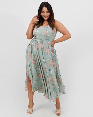 You & All Tie Shoulder Maxi Dress