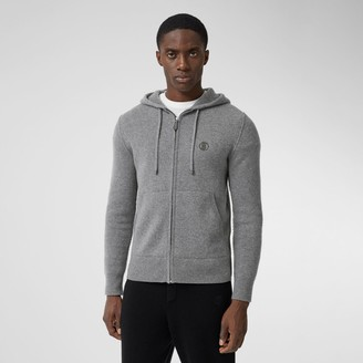 Burberry Monogram Motif Cashmere Blend Hooded Top