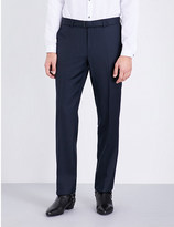 The Kooples Slim-fit tapered wool trousers