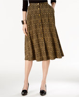 NY Collection Printed A-Line Skirt