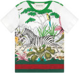 Gucci Baby Savannah print cotton t-shirt