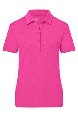 James & Nicholson Women's Ladies' Slub Polo Shirt, Green Turquoise, 8 (Size: Small)
