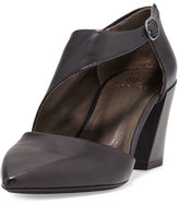 Coclico Jung Leather Chunky-Heel Pump, Black