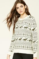Forever 21 FOREVER 21+ Moose Fair Isle Sweater