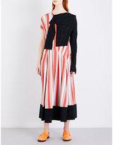 Loewe Striped contrast-panel jersey dress