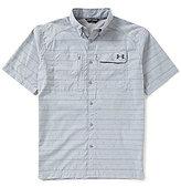 Under Armour Fish Multi-Striped Stretch Short-Sleeve Hunter Shirt