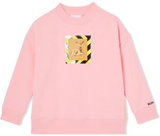 BURBERRY KIDS Deer Print Crew Neck Sweatshirt