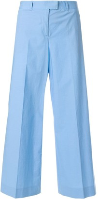 Moschino Pre Owned Wide-Legged Cropped Trousers