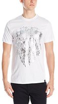 Southpole Men's Foil and Screen Print Graphic T-Shirt with Insignia Design