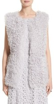 St. John Women's Reversible Genuine Curly Lamb Fur Vest