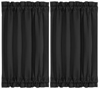 Unique Bargains 2pcs Room Blackout Curtains Sliding Door Panel Darkening Drape