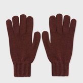 Paul Smith Men's Burnt Red Cashmere Gloves