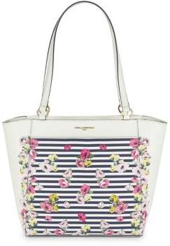 Karl Lagerfeld Paris Floral Willow Leather Tote