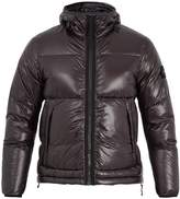 Stone Island Hooded quilted down technical jacket
