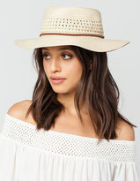 Full Tilt Short Trim Straw Womens Floppy Hat