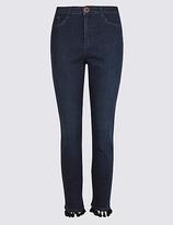 Per Una Pom Pom Roma Rise Slim Leg Jeans
