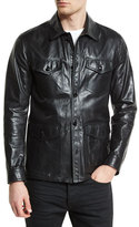 Tom Ford Lightweight Leather Racer Jacket, Black