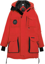 Vetements + Canada Goose Oversized Hooded Fleece-trimmed Shell Down Parka - Red